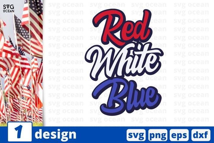 Red White Blue Svg cut file | United states of america svg