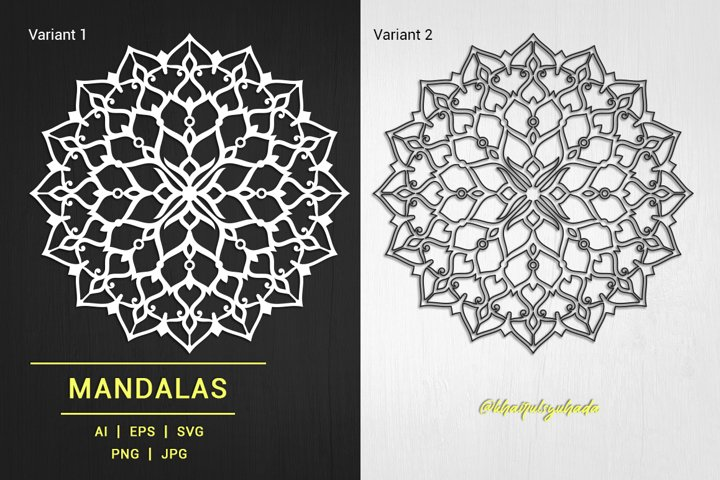 Mandala Ornamental Monochrome_01
