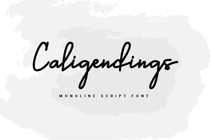 Caligendings - Monoline Script Fonts