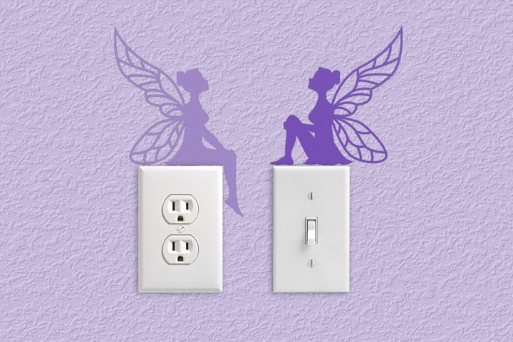 Fairy Silhouettes Light Switch and Outlet Decoration SVG