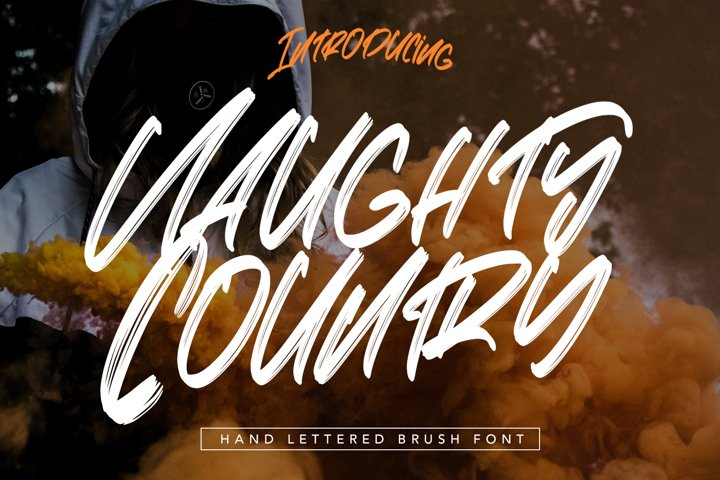 Naughty Country - Hand Lettered Brush Font