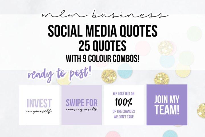 25 x Lilac Purple MLM Social Media Quotes