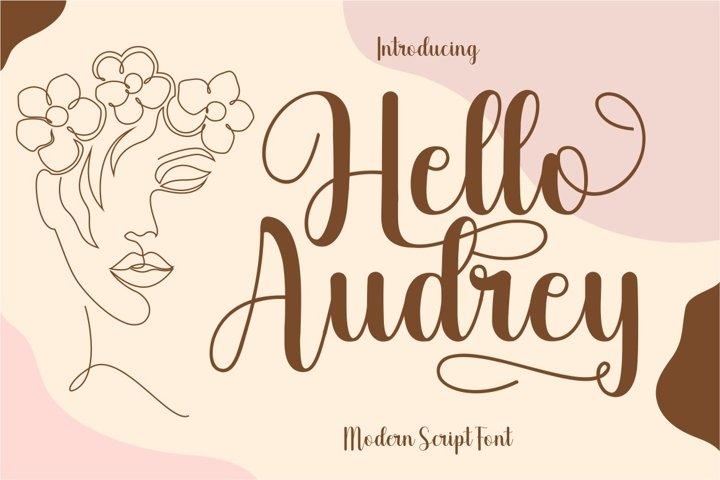 Hello Audrey - Modern Script Font