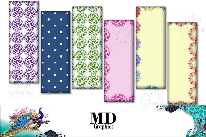 Bookmarks Digital Floral, Flowers Digital Cards, Images