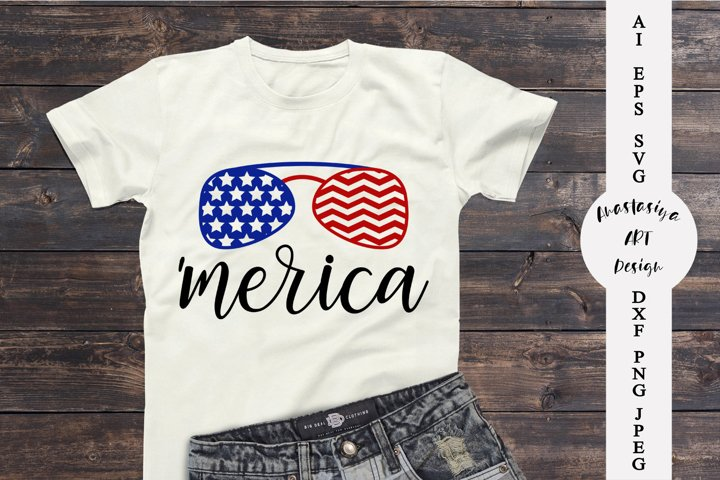 Patriotic shirt svg, 4th of july svg, Merica shirt dxf