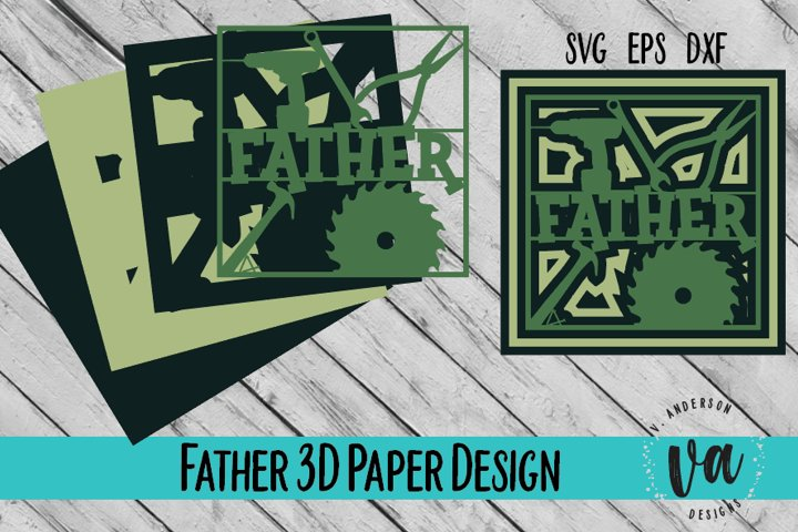 3D Layered Father Cut File/SVG