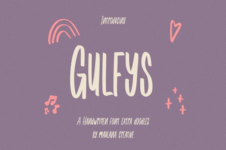 Gulfys Handwritten Font Extra Doodles