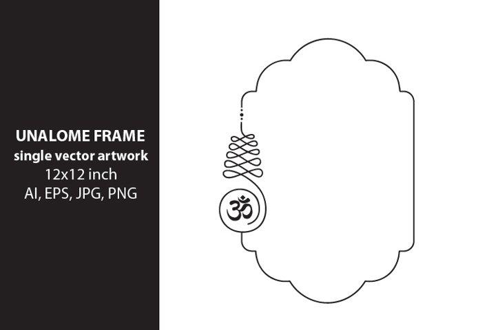 unalome frame - single vector artwork