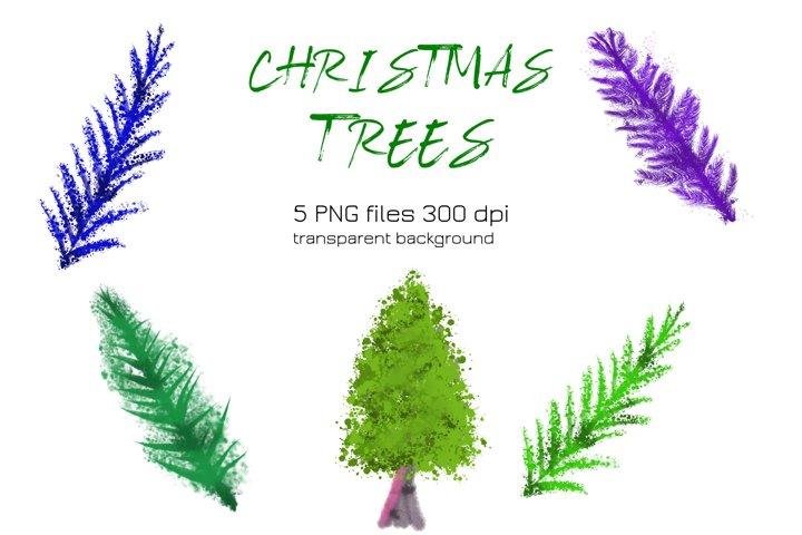 Watercolor Christmas Tree PNG