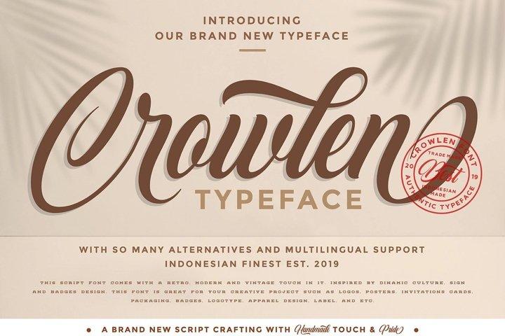 Crowlen Typeface