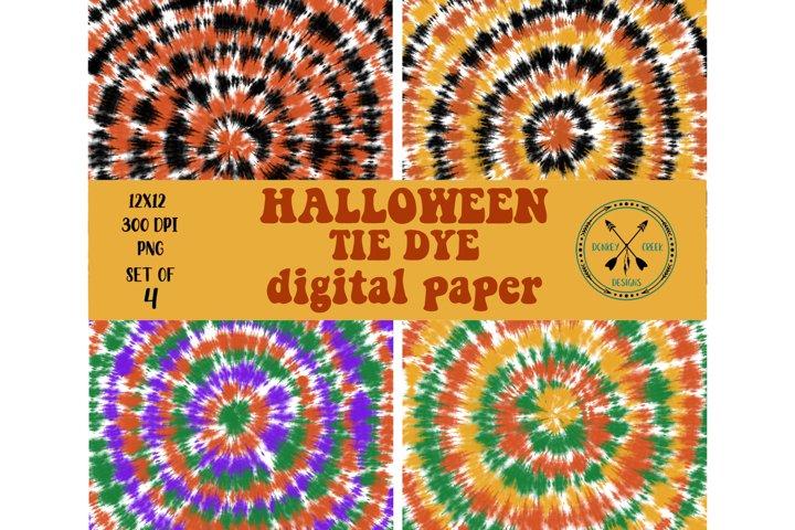 Halloween Tie Dye Digital Paper Pack