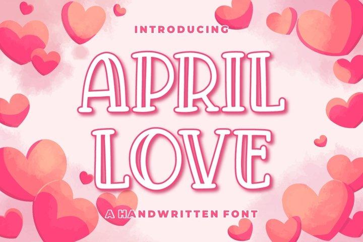 April Love - Handwritten Font