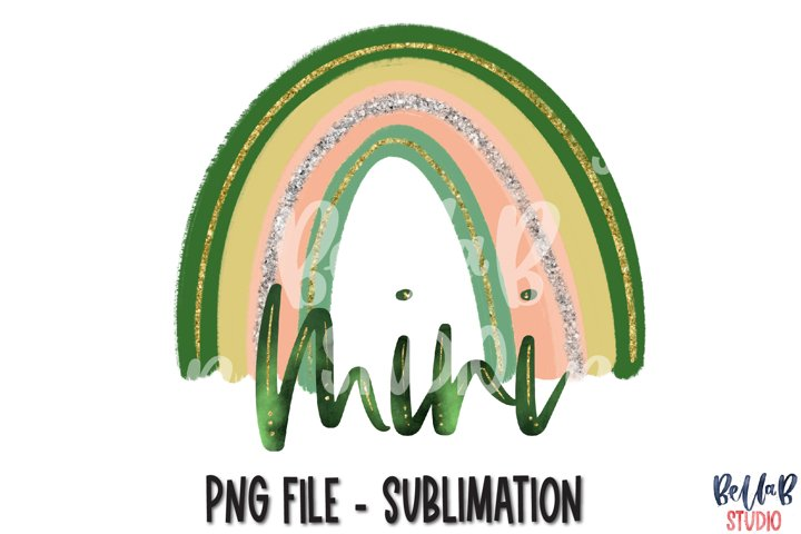 Mini Rainbow St Patricks Day Sublimation PNG