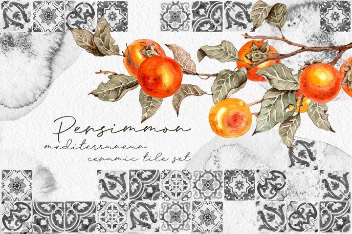 Persimmon Mediterranean ceramic tile