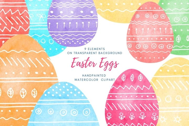 Easter egg set PNG. Eggs with white hand drawn doodle sketch