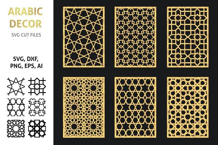 Moroccan geometric patterns, SVG, DXF cut files