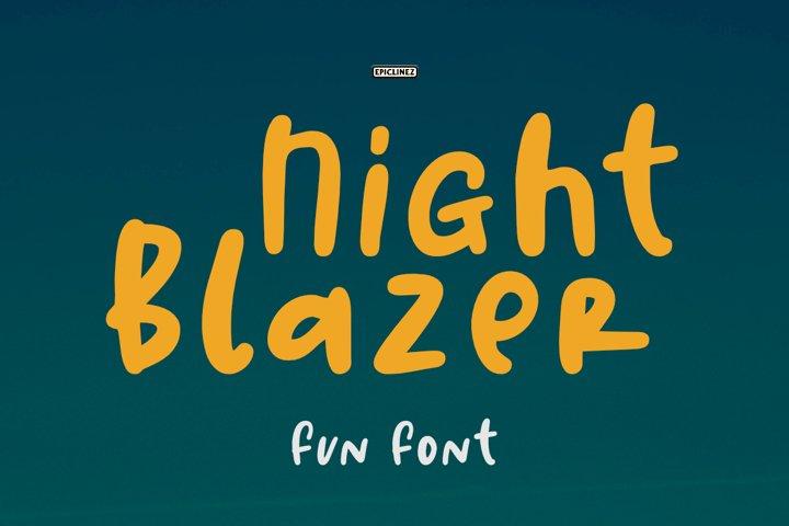Night Blazer   a Fun Font