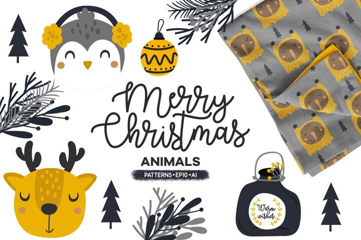 Merry Christmas, Cute animals