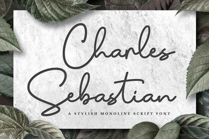 Monoline Script - Charles Sebastian Font