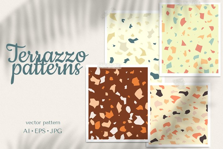 PRINT TERRAZO pattern set JPG AI EPS