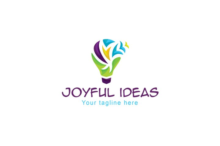 Joyful Ideas - Bulb Object Stock Logo Template