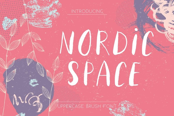 Nordic Space   Uppercase Font