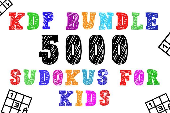 KDP Bundle l 5000 Sudoku Kids