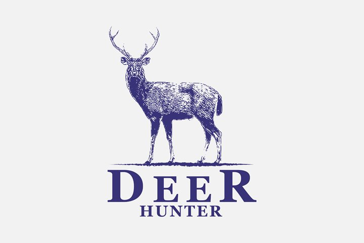 Awesome vintage logo for deer hunter