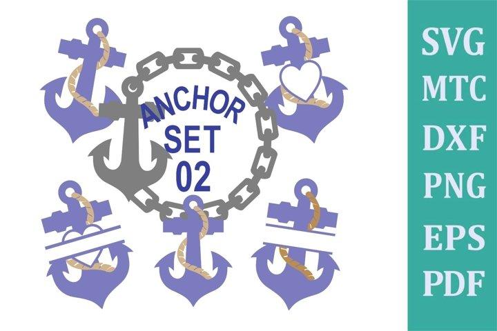 Anchor Set 02 Cruise Bundle Sublimation SVG Cut File