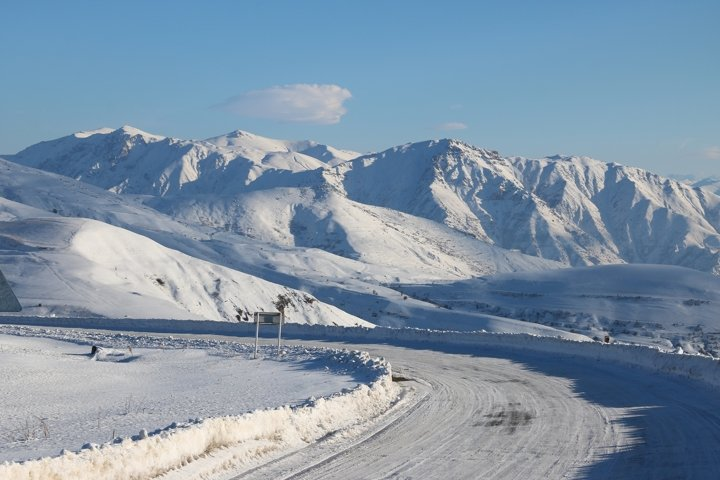 Selim Pass in winter, Gegharkunik Province, Armenia