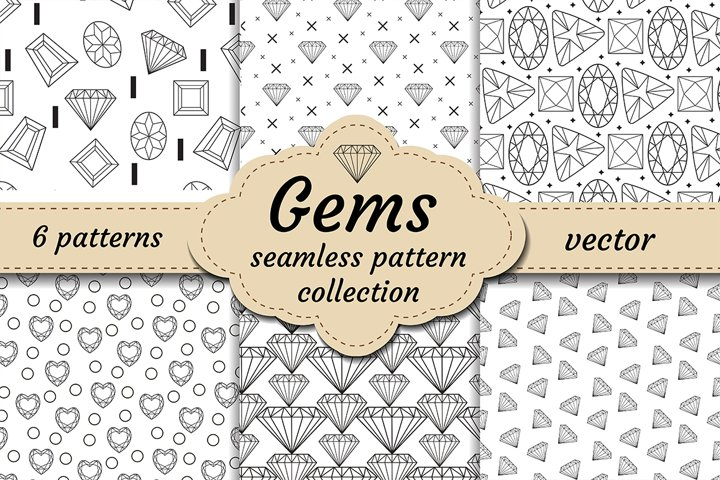 Diamond seamless pattern set