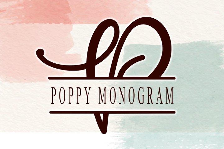 Poppy Monogram