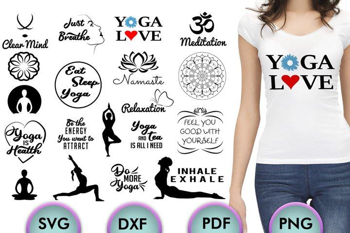 Yoga SVG Bundle, Yoga Saying SVG, Silhouette Studio, Cricut