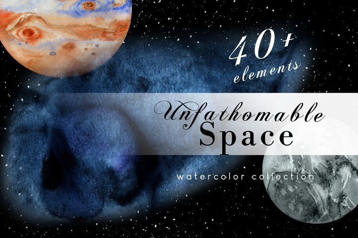 Watercolor solar system science clipart
