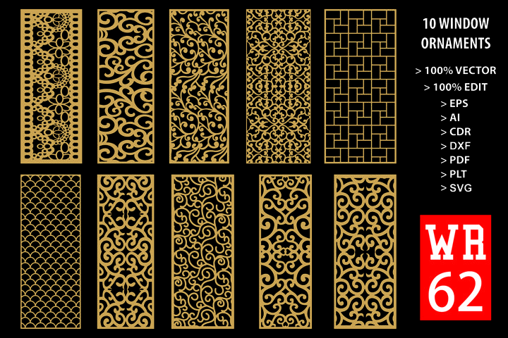 WR 62, Carved Window Ornaments Laser Cutting