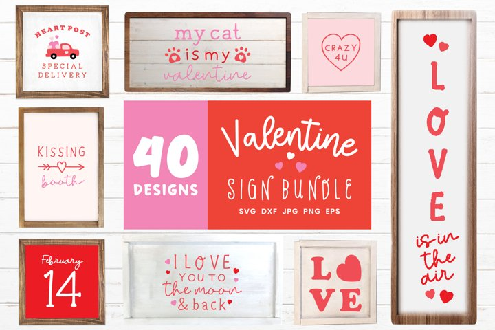 Valentine Sign Bundle | Valentines Day Decor Svg Bundle