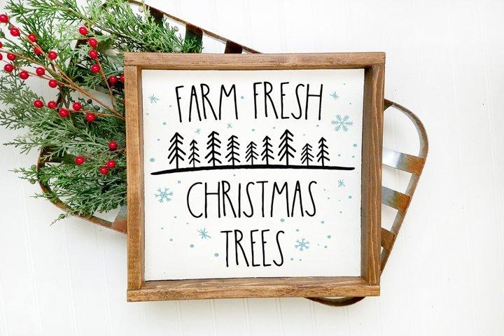 Christmas Tree SVG - Farm Fresh Christmas Trees