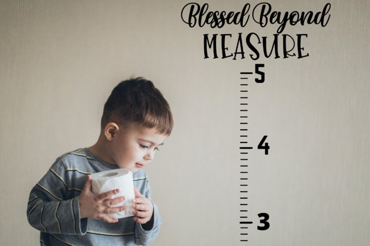 Growth Chart SVG PNG diy cameo vinyl Blessed Beyond Measure