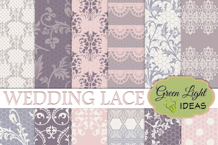 Wedding Lace Digital Papers