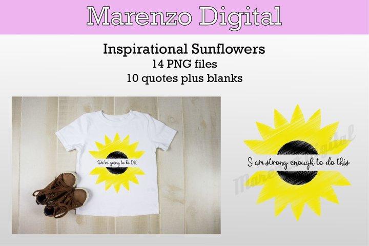 Sunflower Inspirational Quotes Bundle - PNG Sublimation
