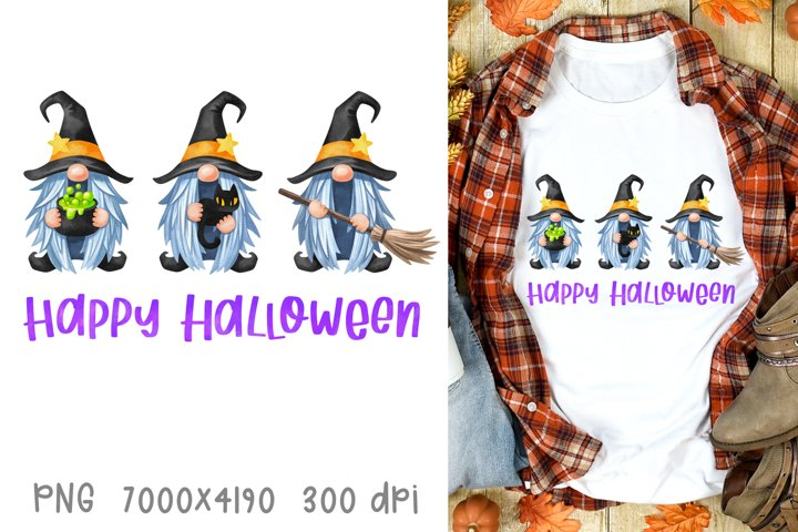 Halloween sublimation designs fall Halloween witch gnomes