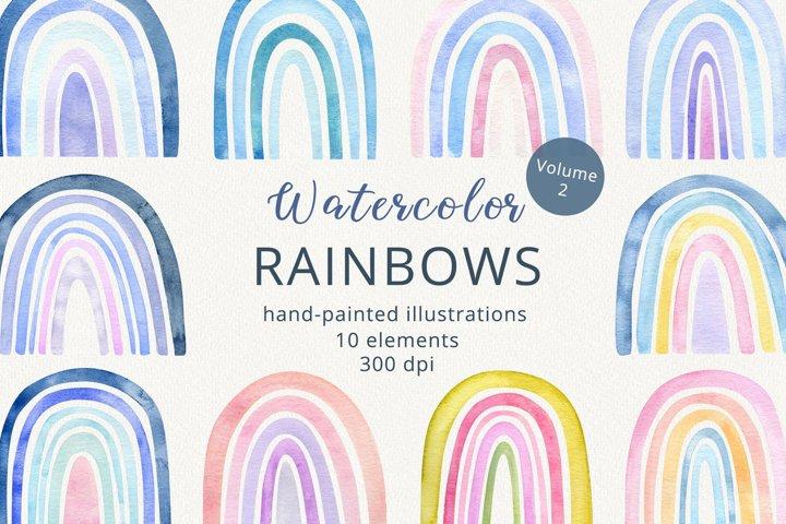 Watercolor Rainbow Collection. Vol.2