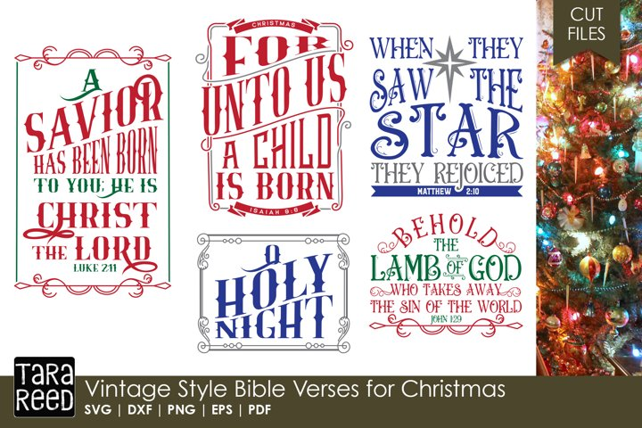 Vintage Style Bible Verses for Christmas - SVG & Cut Files
