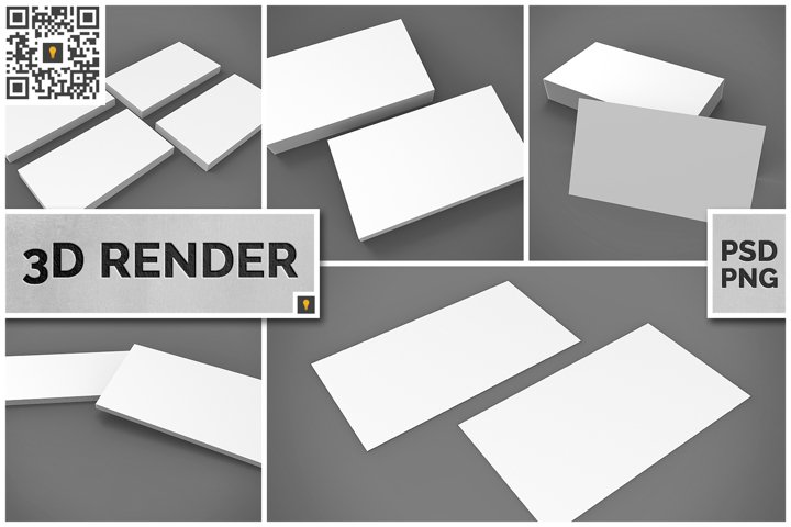 Business Card 3D Render