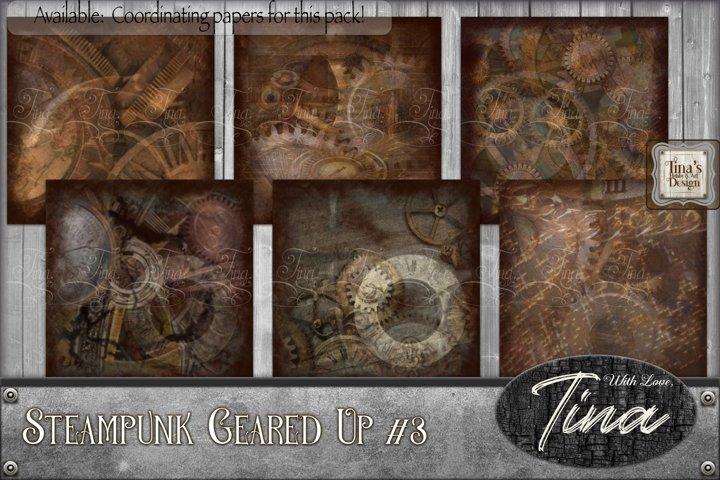 Steampunk Geared Up Gears Clocks Grunge 092918GU3