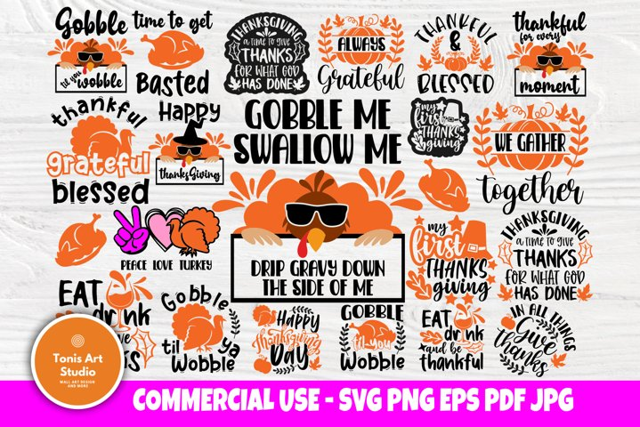 Thanksgiving SVG Cut Files, Fall Thankful Svg, Blessed Svg,
