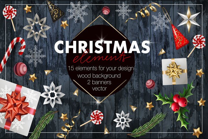 Christmas elements for your design.