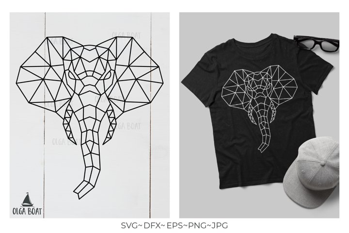 Geometric Elephant head Elephant svg Geometric animals