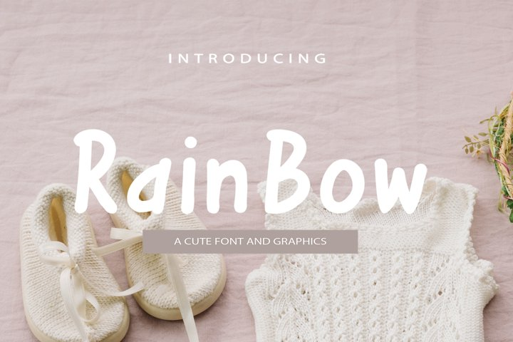 Rainbow Font and Graphics