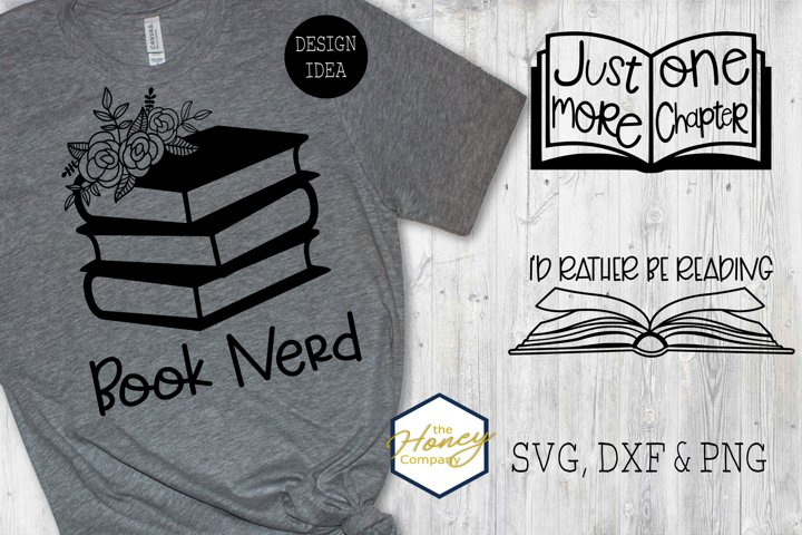 Book Lover Reading SVG PNG DXF Cutting Bundle School